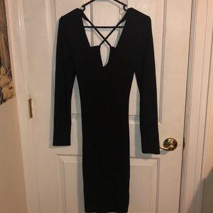 NWOT Open Back Midi Dress